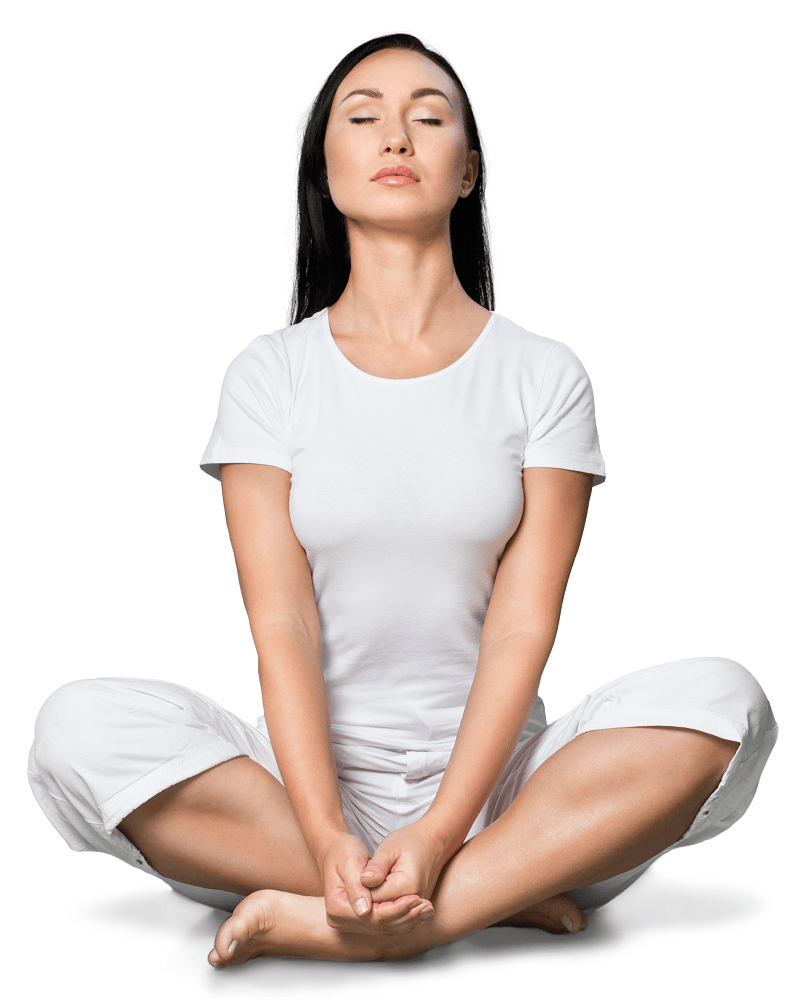 Meditating helps to focus and calm an overactive mind