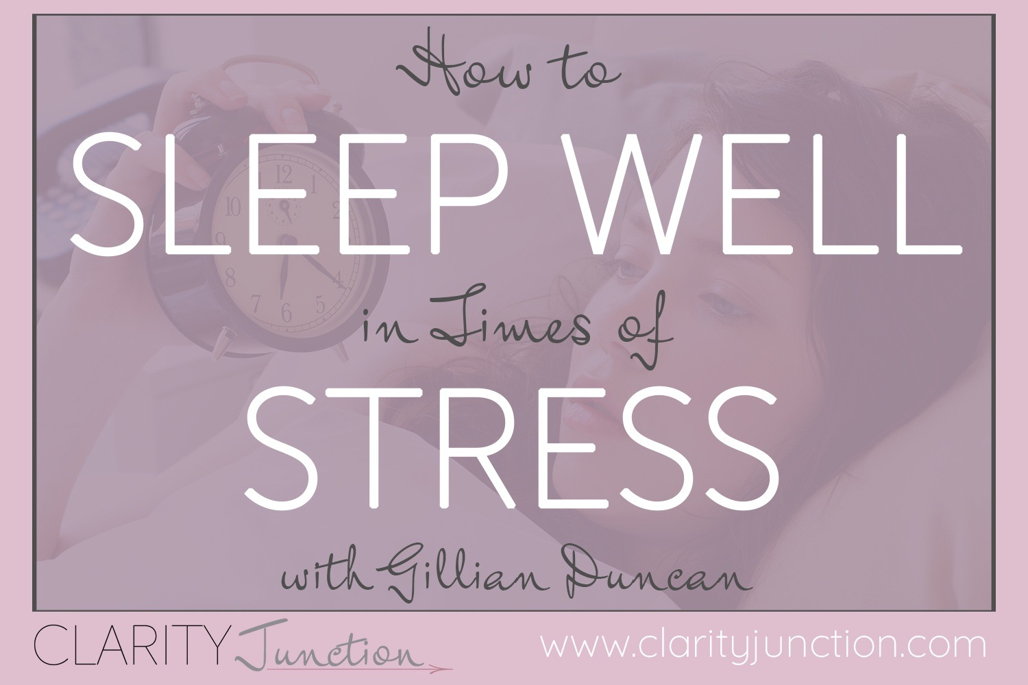 Sleep Well in Times of Stress